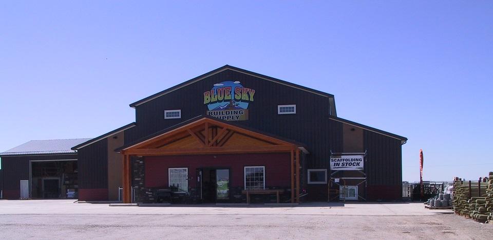 Blue sky building supply home